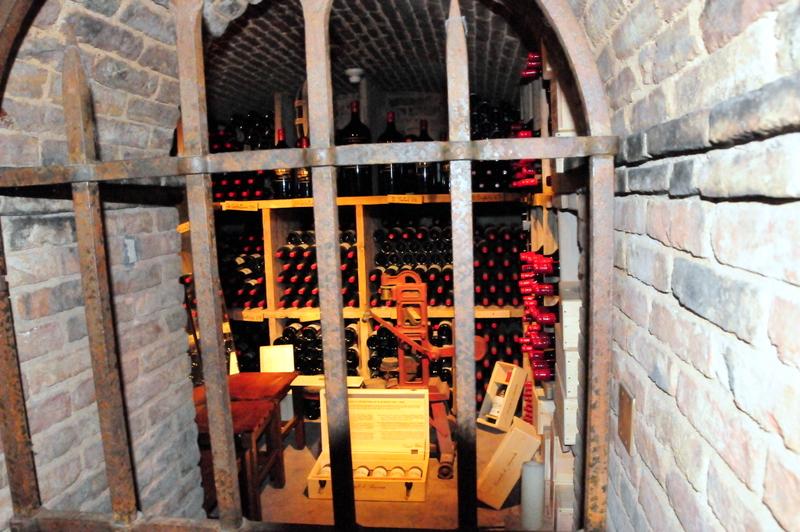 a wine cellar at Castello di Amorosa