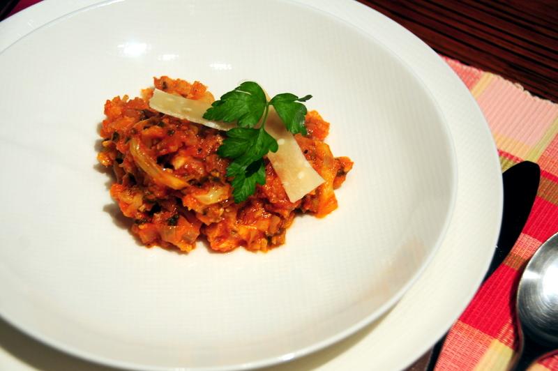 cauliflower cooked in pomodoro
