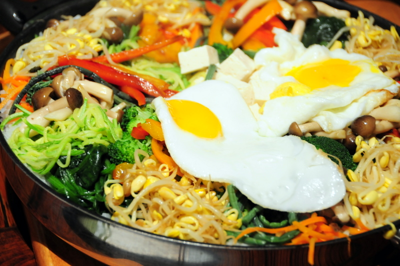 colorful and flavorful vegetarian bi-bim-bap