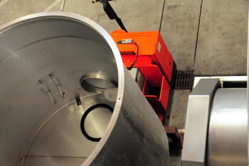 high-tech wine making stuff at Littorai