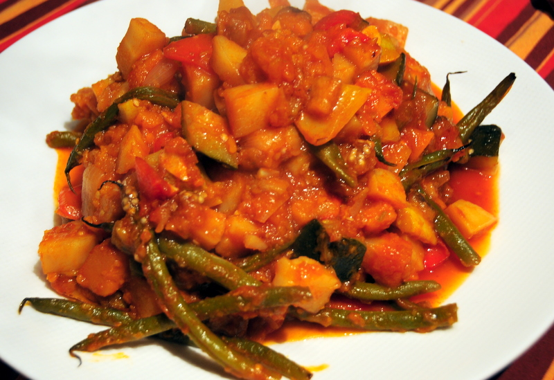 Fall-inspired kabocha and parsnip ratatouille
