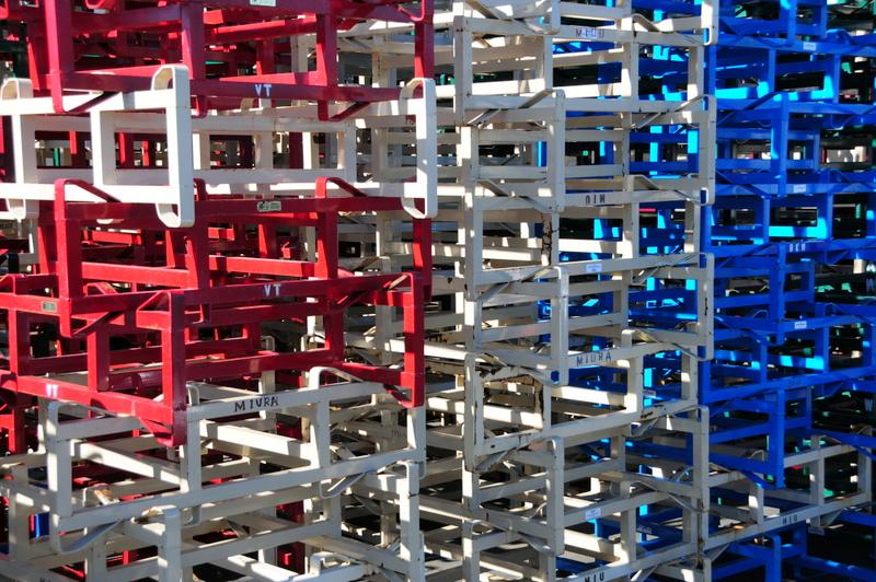 the barrel racks are like abstract art