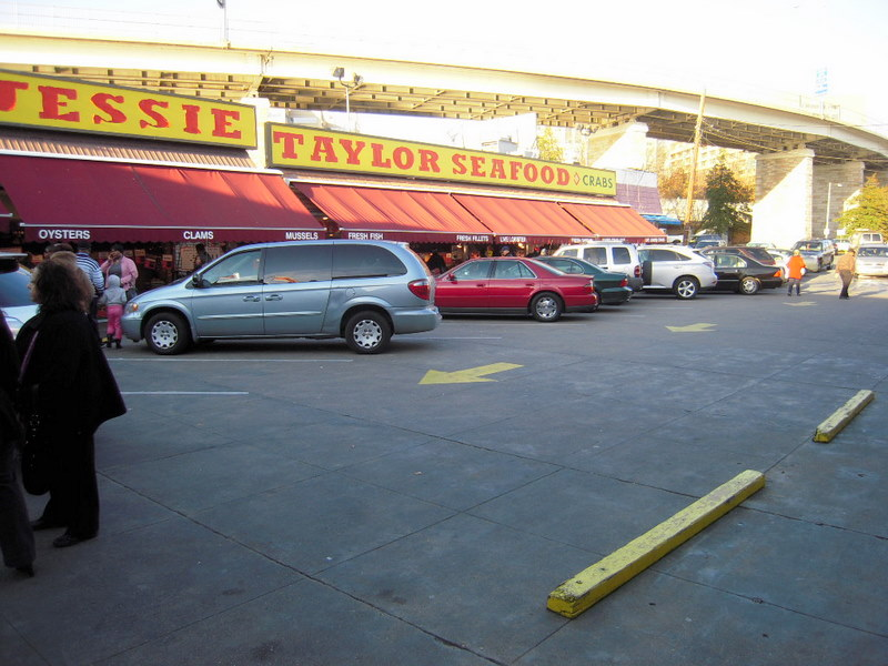 Taylor Seafood and the Freeway overpass