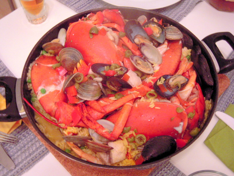 our holiday lobster paella