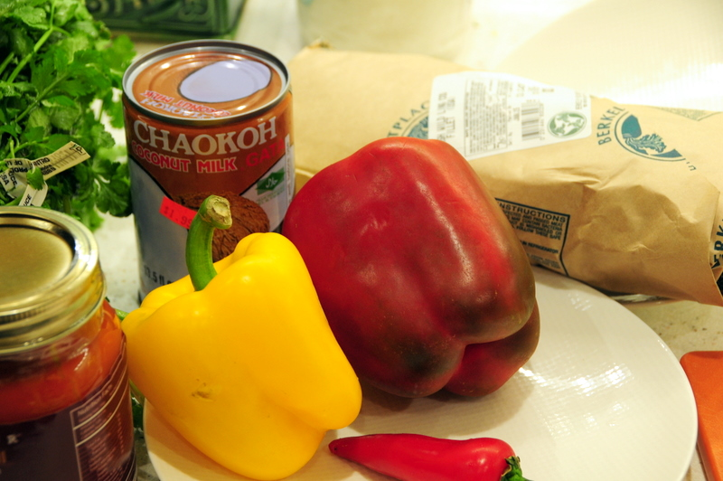 some key ingredients for moqueca baiana AKA Bahian fish stew