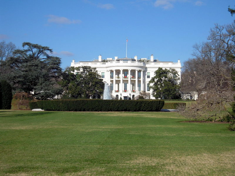 classic White House view