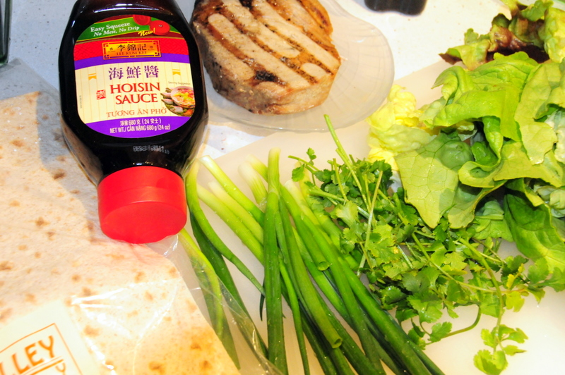 key ingredients for grilled tuna roll-ups with hoisin sauce