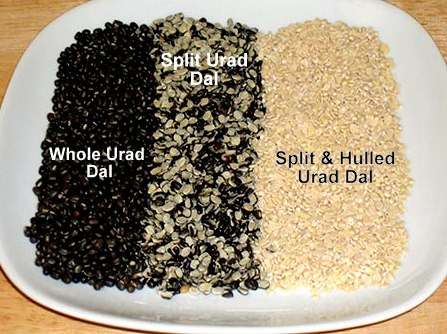 several kinds of urad dal