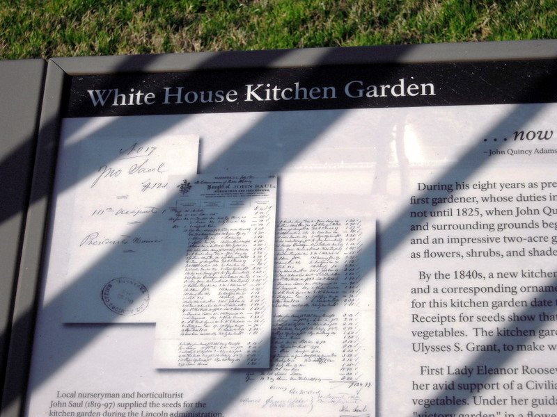 the sign for the White House Kitchen Garden