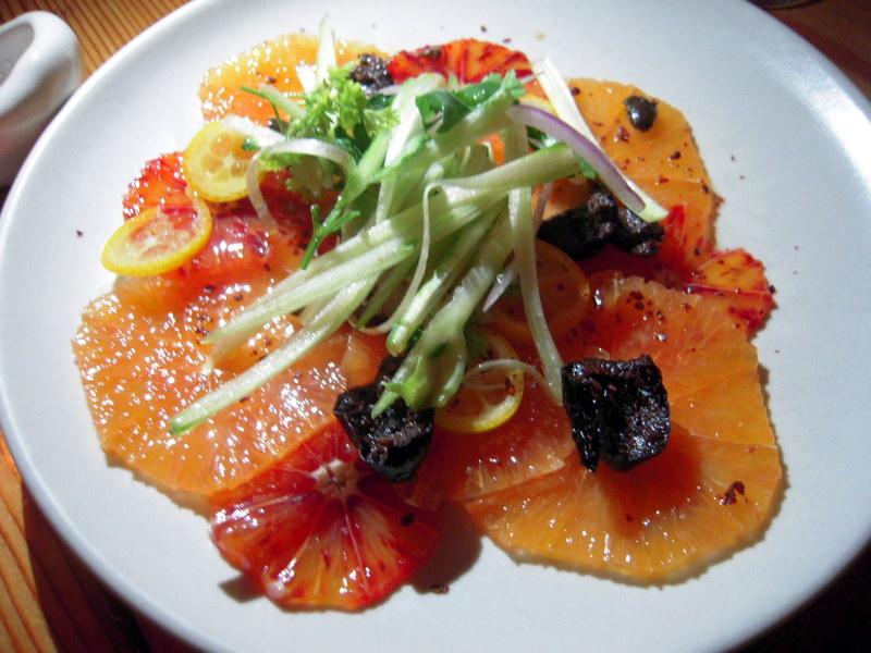 Moorish blood orange salad