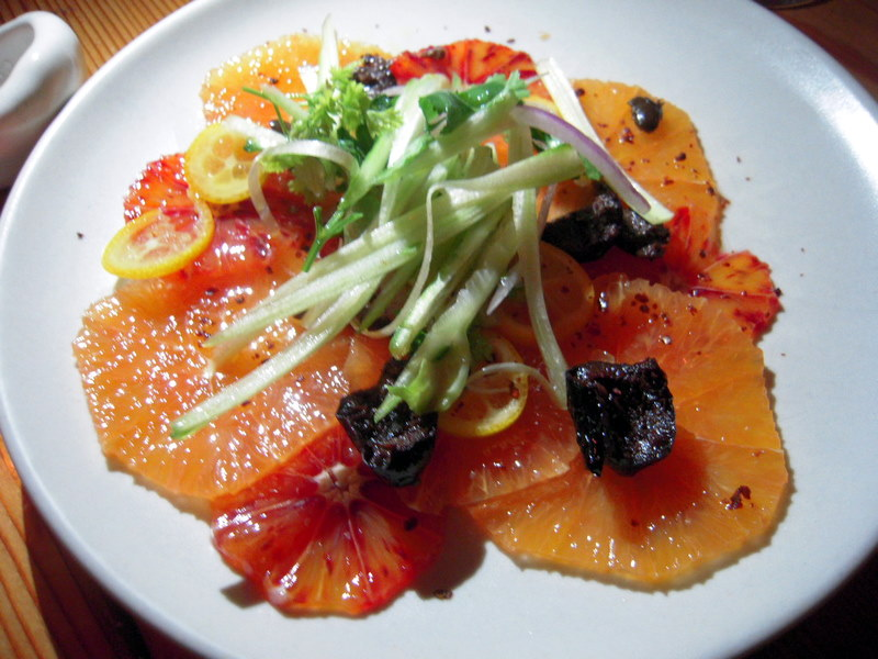 Moorish blood orange salad