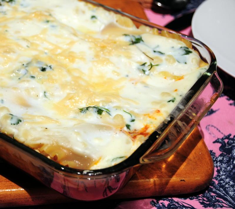 artichoke leek lasagna