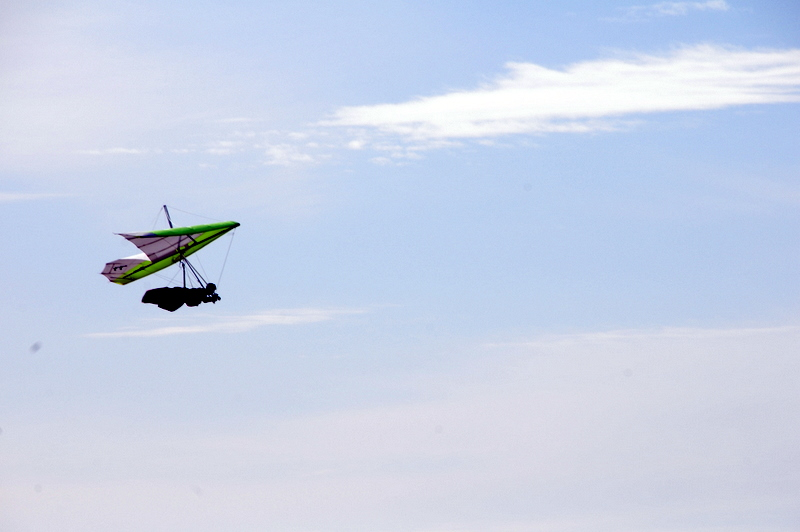hang-gliding over the Pacific