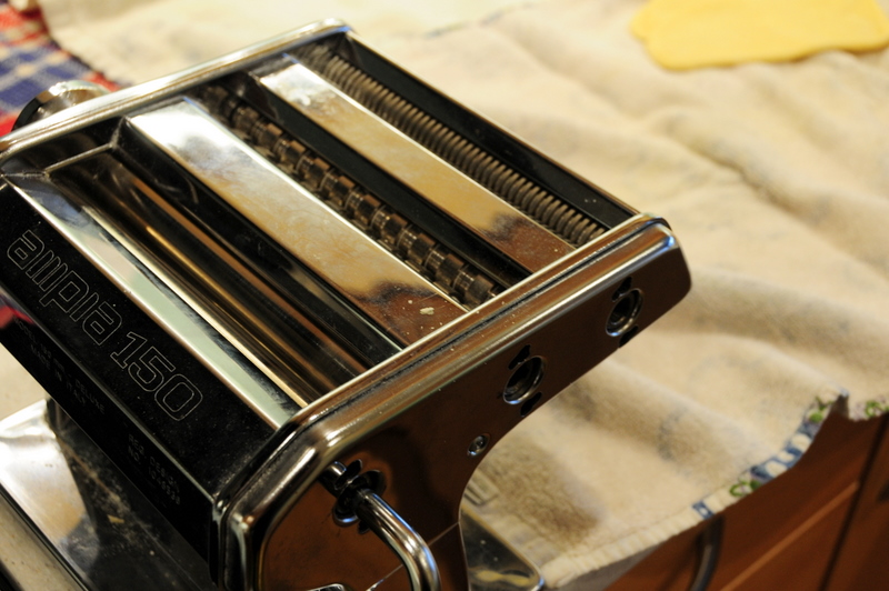 my hand-cranked pasta machine