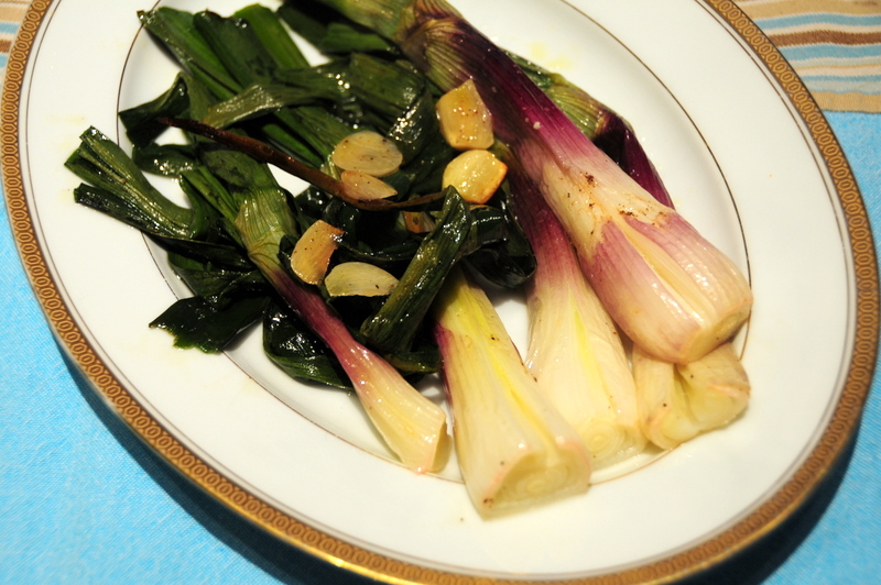 oven roasted red spring onions