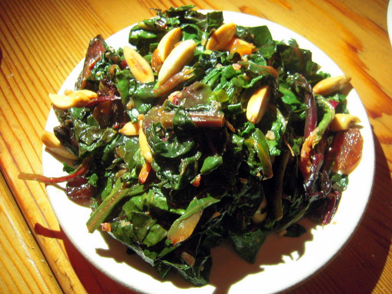 sauteed greens Catalan style