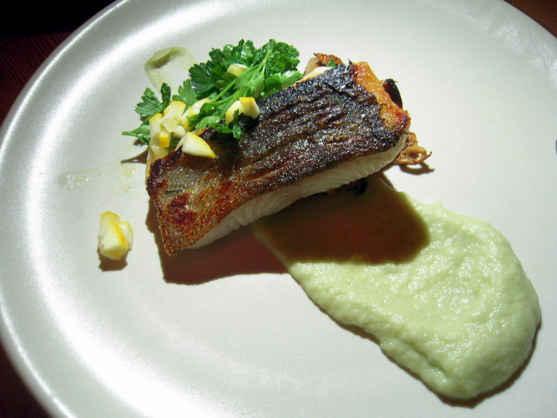 seared local black cod