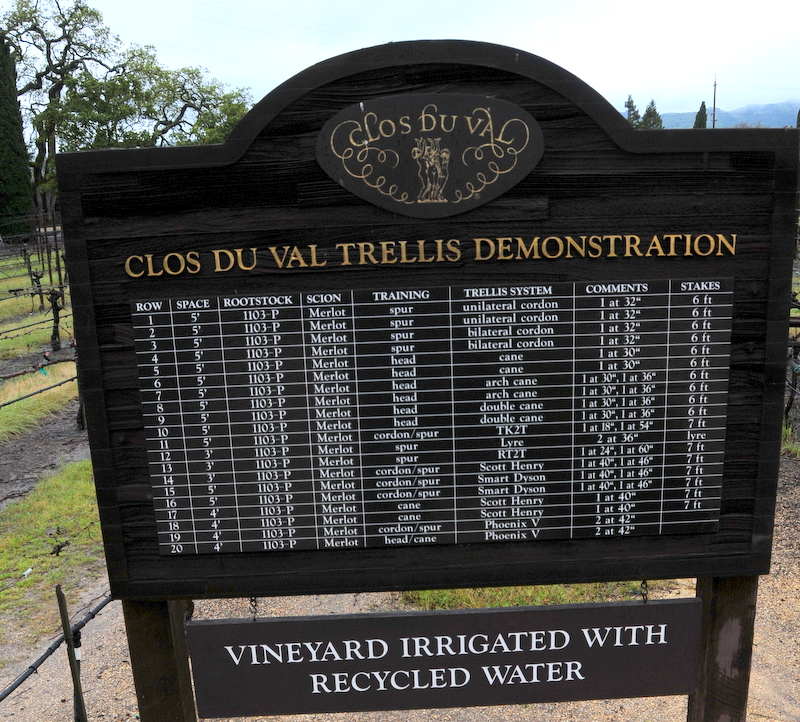 Clos du Val trellis demonstration