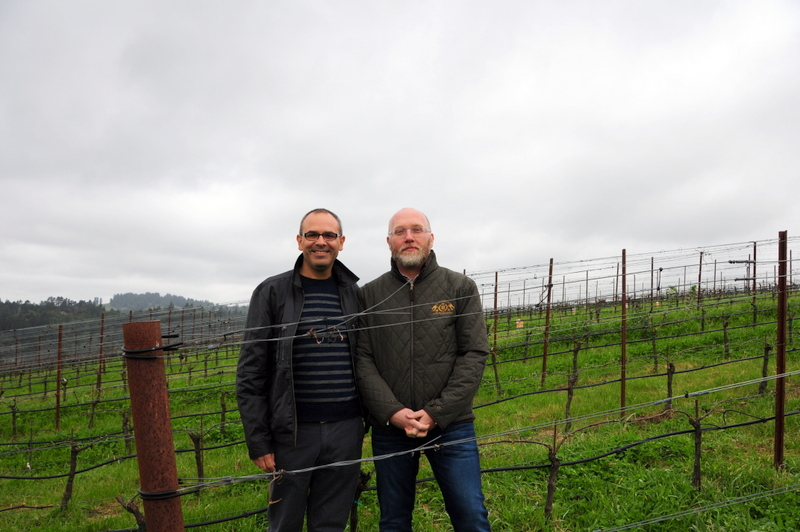 Hegui and I in the Pivot vineyard