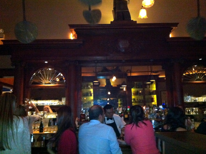 the grand bar at Comstock Saloon