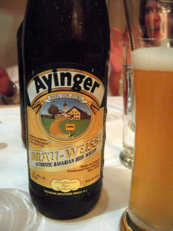 Ayinger brau-weisse Bavarian hefe-weizen