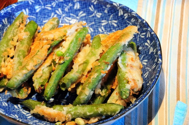 fava bean tempura
