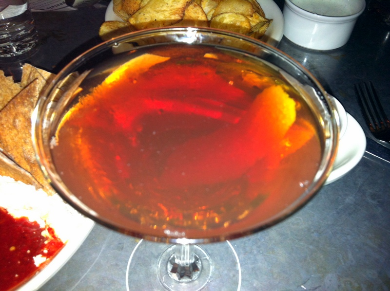 my Comstock Saloon classic Manhattan--now this is why I came here