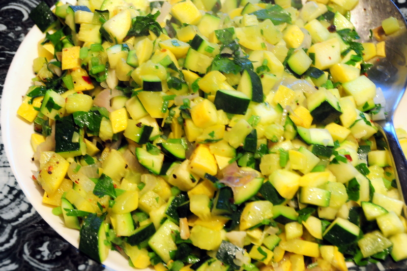 sautéed zucchini and yellow squash