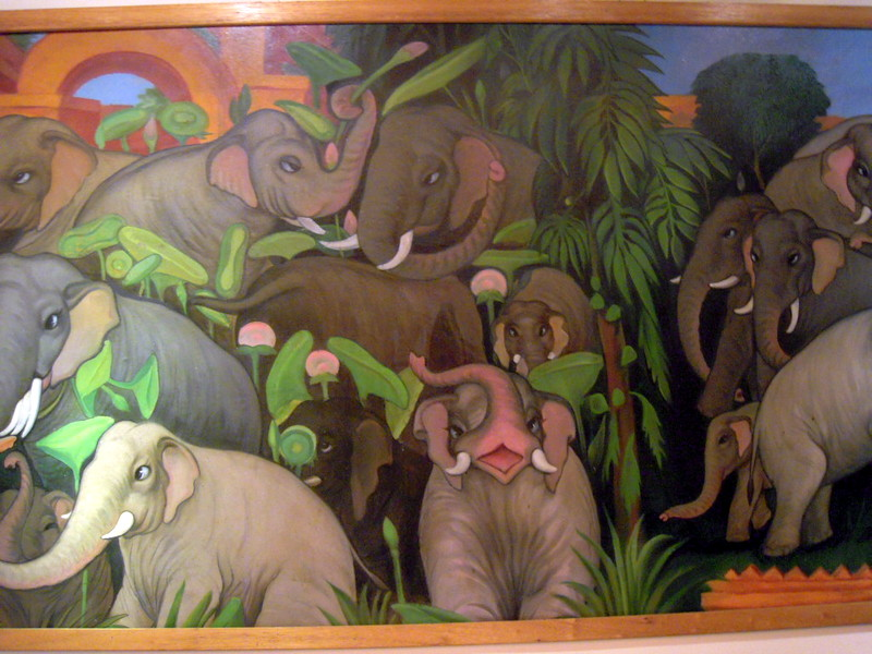 section of the elephant mural