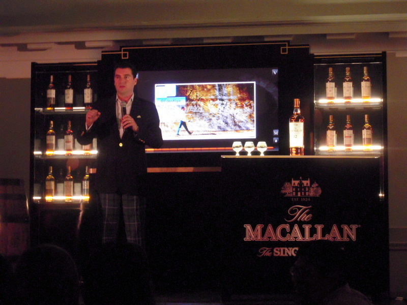the MC for The Macallan tasting event--I loved his kelly green patterned slacks