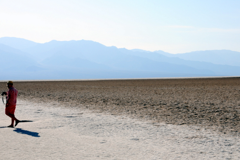 Badwater Basin in Death Valley Nationl Park the lowest point in North America at 282 feet below sea level