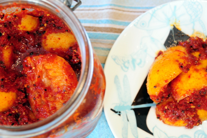 Indian inspired Meyer lemon pickle