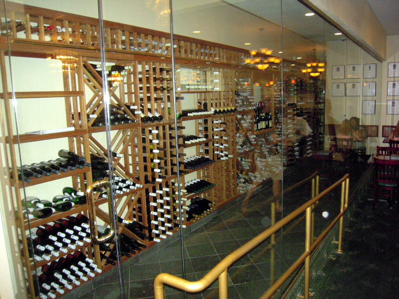 white wine cellar at Lotus of Siam