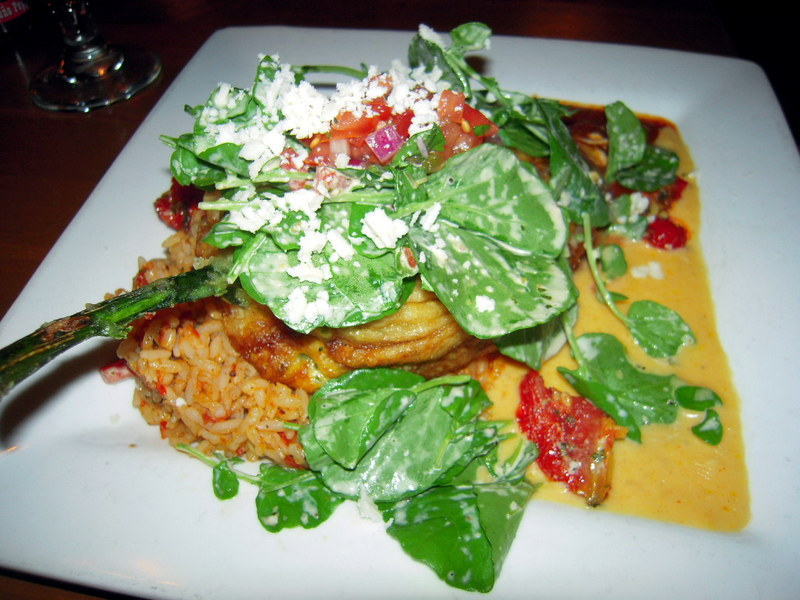 Barking Frog Grille poblano relleno