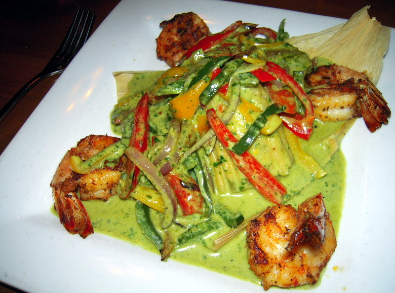 Barking Frog Grille shrimp tamale