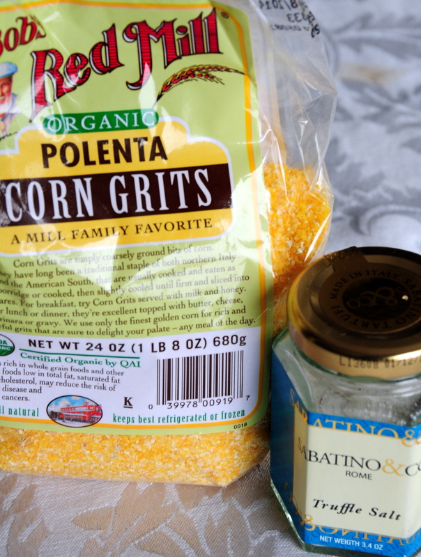 my polenta and truffle salt--thanks for that Devaki!
