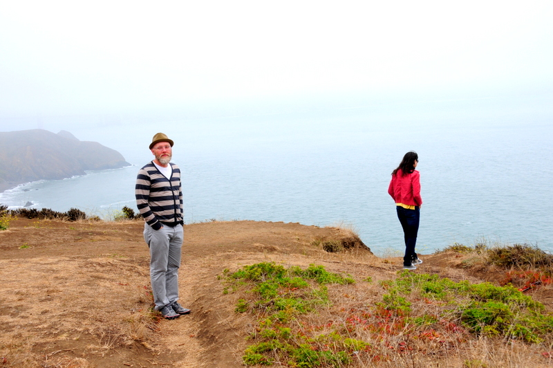 Steven and Ju admiring the hazy Bay entrance