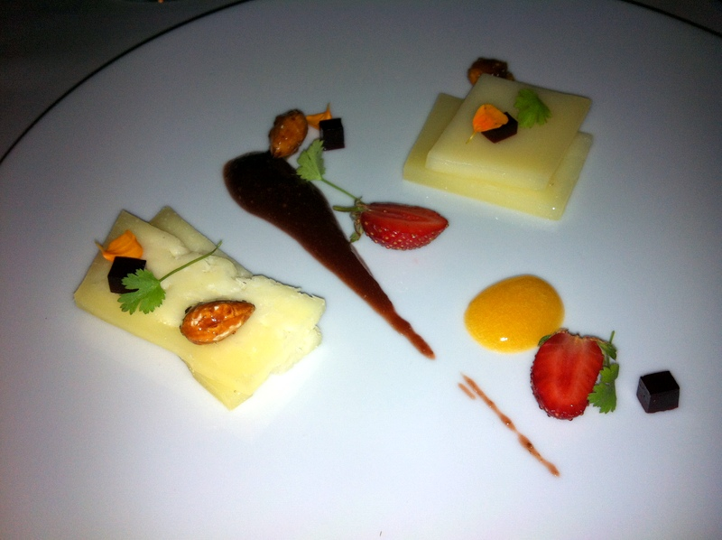 Taj Campton Place cheese course