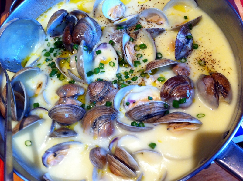 clams with Yukon gold potatoes