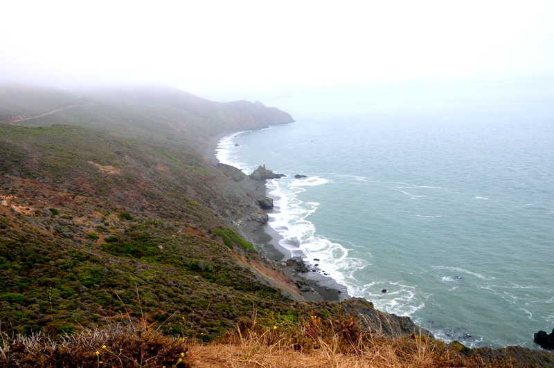 gorgeous rugged coastline in the Marin Headlands