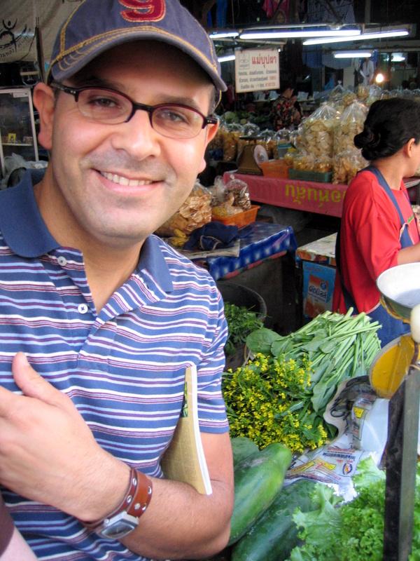 me at a buzzing Chiang Mai market
