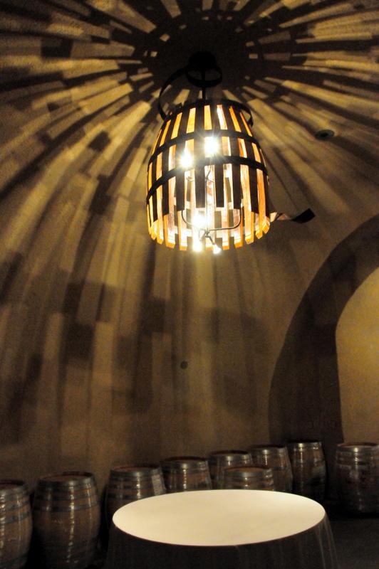 Hanzell wine cave interior