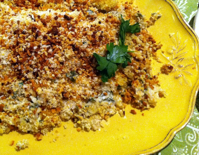 halibut in horseradish panko crust