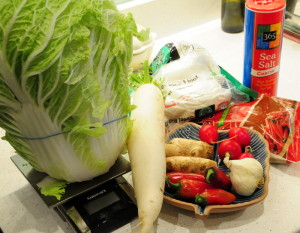 key ingredients for authentic kimchi
