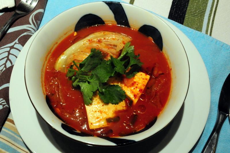spicy kimchi soup aka Kimchi Jiigae
