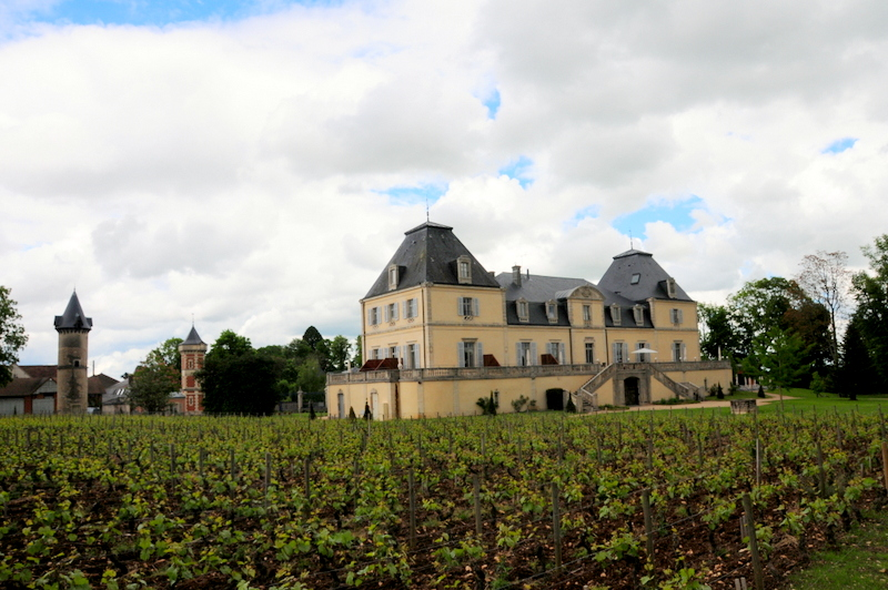 Château de Cîteaux La Cueillette as seen from across the vineyard