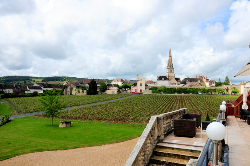 Meursault from the back of our resort