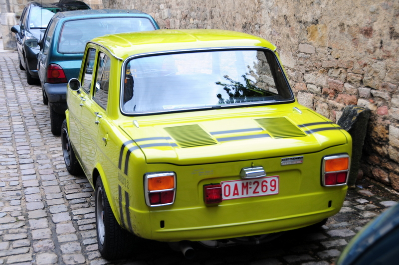 cute car parked in Beaune