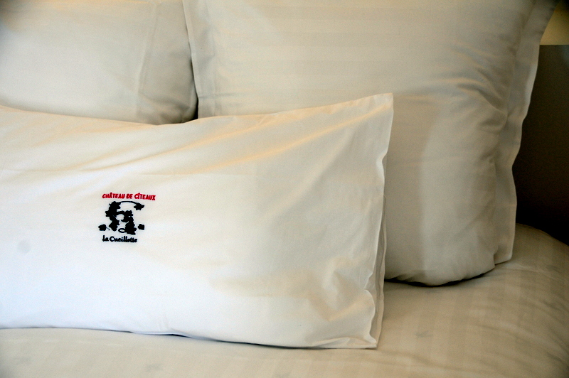 pillows from Château de Cîteaux La