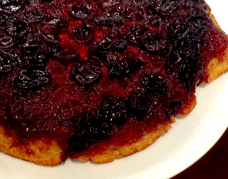 sour plum upside-down cake
